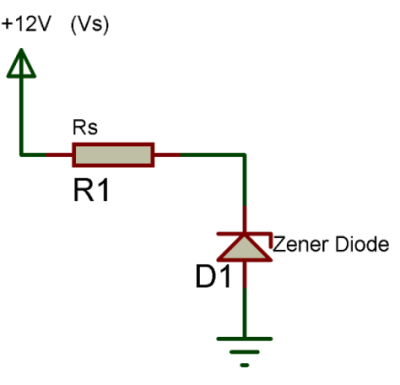 a simple zener diode circuit