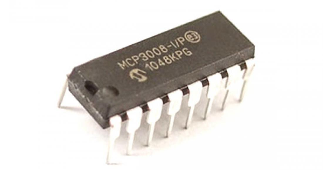 MCP3008 8-Channel 10-bit ADC IC